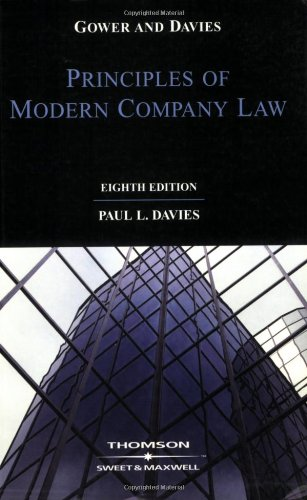 9780421949003: Gower and Davies: The Principles of Modern Company Law