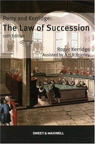 9780421959309: Parry and Kerridge: The Law of Succession