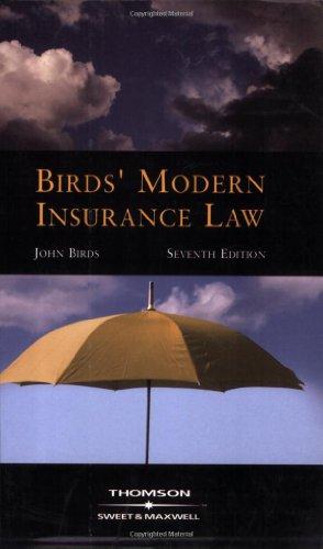 9780421960503: Birds' Modern Insurance Law