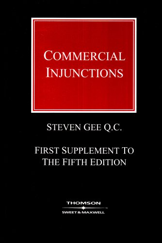 9780421962408: Commercial Injunctions 1st Supplement: (Formerly 'Mareva Injunctions and Anton Piller Relief')