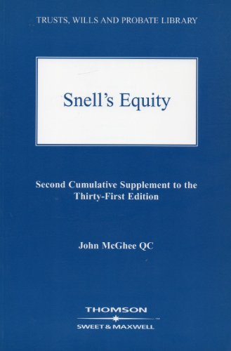 Snell's Equity: 2nd Supplement: McGhee, J.