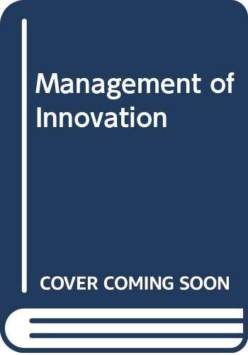 9780422700801: Management of Innovation