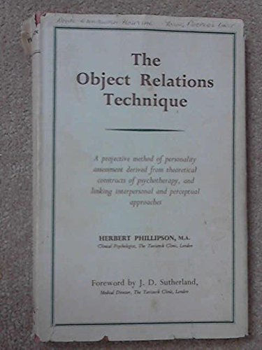 9780422706704: The Object relations Technique