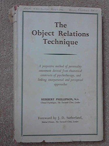 9780422706704: Object Relations Technique