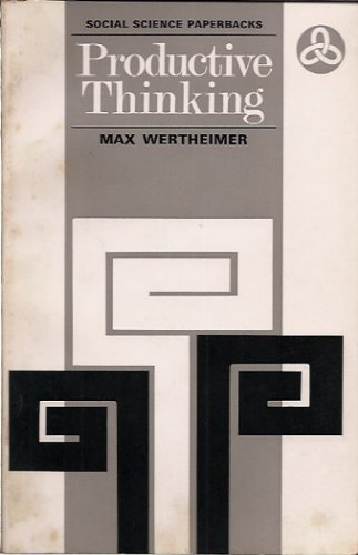 9780422720809: Productive thinking (Social science paperbacks, 9)