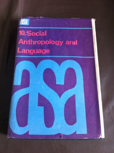 9780422737005: Social Anthropology and Language (A S A monographs - Vol 10)