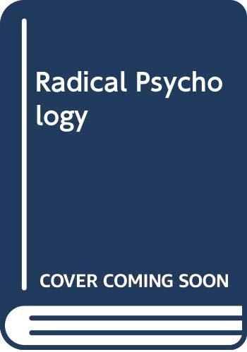 9780422744102: Radical Psychology