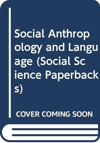 9780422755603: Social Anthropology and Language (Social Science Paperbacks)
