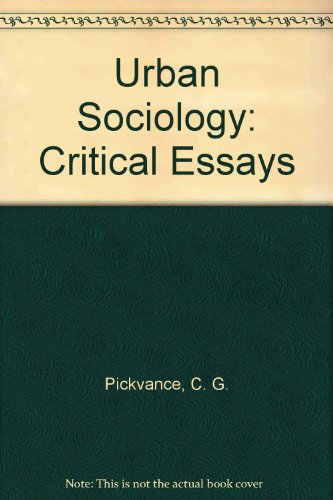 9780422761000: Urban Sociology: Critical Essays