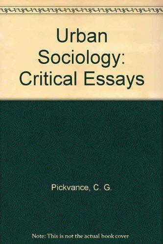 9780422761000: Urban Sociology: Critical Essays
