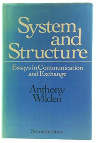 system and structure essays in communication and  9780422767002 system and structure essays in communication and exchange