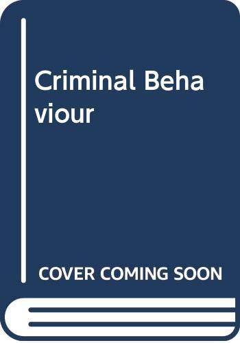 9780422776806: Criminal Behaviour