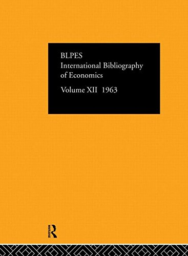 International Bibliography of the Social Sciences 1963: Volume 12 (Hardback): International ...