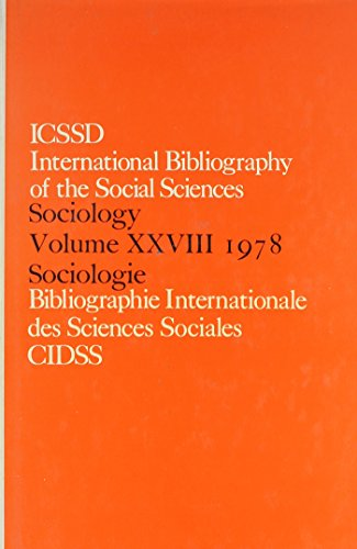 IBSS: Sociology 1978: v. 28 (Hardback): International Committee for Social Science Information and ...