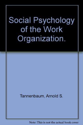 9780422985406: Social Psychology of the Work Organization.