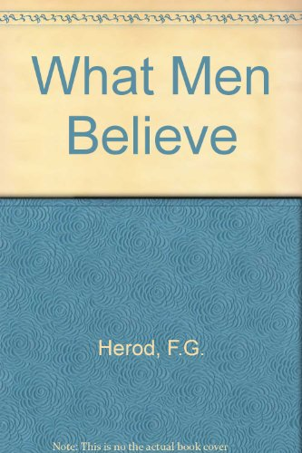 9780423512007: What Men Believe