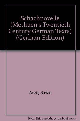 9780423515909: Schachnovelle (Methuen's Twentieth Century German Texts)