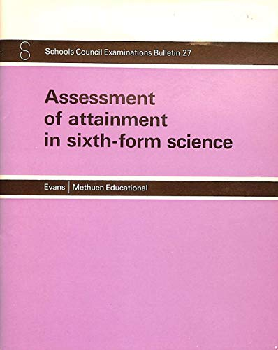 9780423881301: Assessment of Attainment in Sixth Form Science