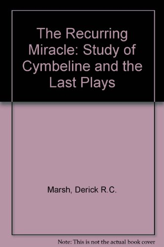 9780424000855: Recurring Miracle: A Study of Cymbeline and the Last Plays