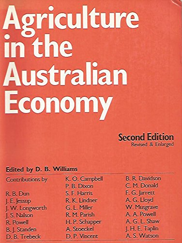 9780424000923: Agriculture in the Australian Economy