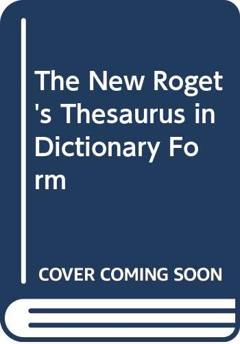 9780425028810: The New Roget's Thesaurus in Dictionary Form