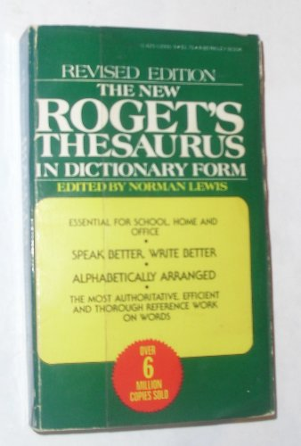 9780425039915: New Rogets Thesaurus