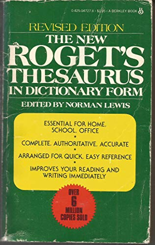 9780425047279: New Rogets Thesaurus