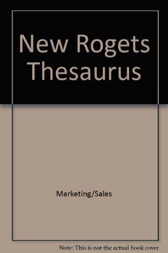 9780425064009: New Rogets Thesaurus