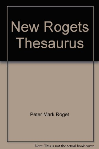 9780425072691: New Rogets Thesaurus