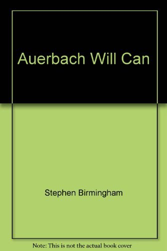 9780425074626: The Auerbach Will