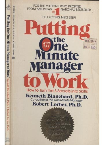 9780425077573: Putting the One Minute Manager to Work
