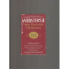 Websters II New Riverside Dictionary (042510267X) by American Heritage
