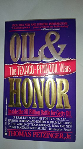 9780425111727: Oil and Honor: The Texaco-Pennzoil Wars