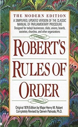 9780425116906: Robert's Rules of Order: A Simplified, Updated Version of the Classic Manual of Parliamentary Procedure