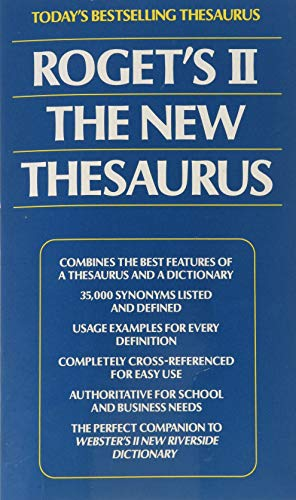 9780425117699: Roget's II: The New Thesaurus