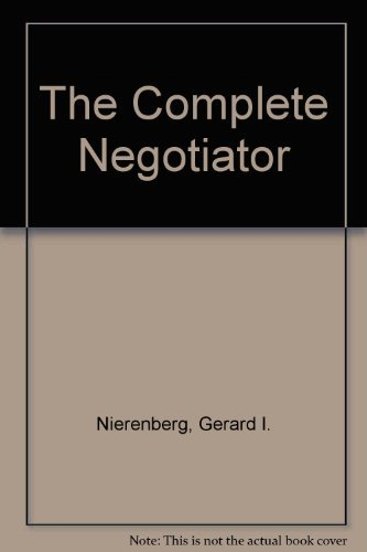 9780425127797: The Complete Negotiator