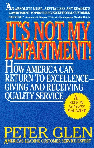 9780425132425: It's Not My Department!