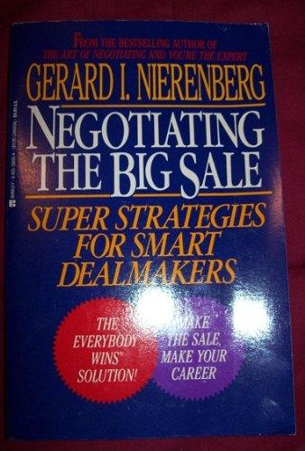 9780425138052: Negotiating the big sale