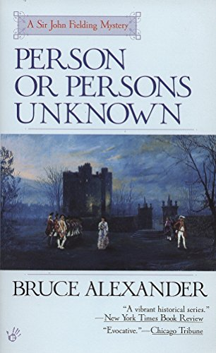 9780425165669: Person or Persons Unknown (Sir John Fielding Mysteries)