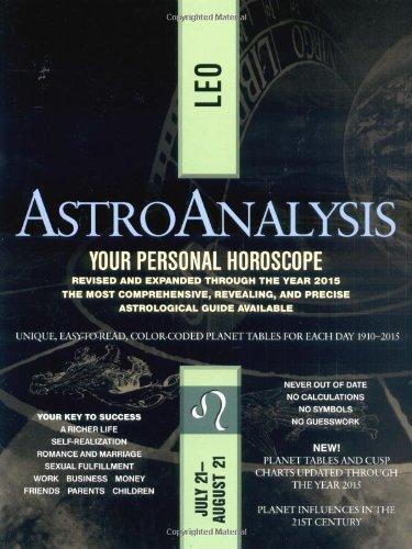 9780425175620: AstroAnalysis: Leo (AstroAnalysis Horoscopes)