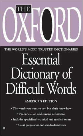 9780425180709: The Oxford Essential Dictionary of Difficult Words