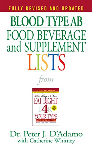 9780425183106: Blood Type AB Food, Beverage and Supplement Lists