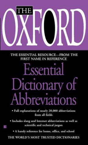 9780425197042: The Oxford Essential Dictionary of Abbreviations