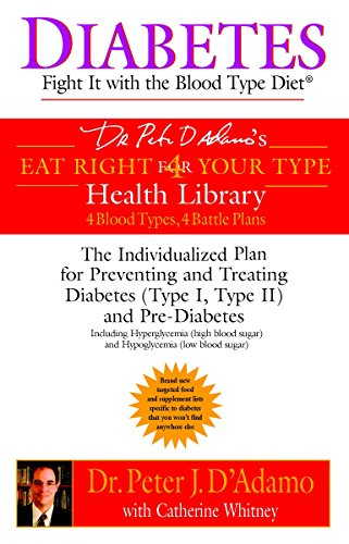 9780425200063: Diabetes: Fight It with the Blood Type Diet: The Individualized Plan for Preventing and Treating Diabetes (Type I, Type II) and Pre-Diabetes (Eat Right 4 Your Type)