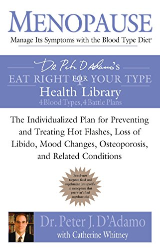 9780425212080: Menopause: Manage Its Symptoms with the Blood Type Diet: The Individualized Plan for Preventing and Treating Hot Flashes, Lossof Libido, Mood Changes, Osteoporosis, and Related Conditions