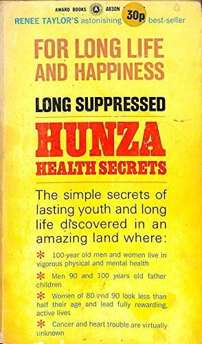 9780426159230: Hunza Health secrets for long Life and Happiness