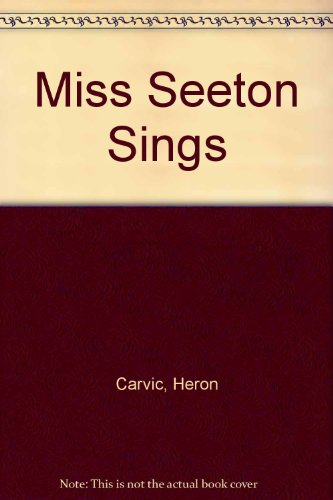 9780432020784: Miss Seeton Sings