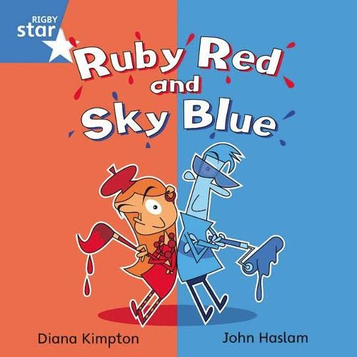 9780433029601: Ruby Red and Sky Blue, Blue Level, Book 6 (with Parent Notes) (Rigby Rocket)