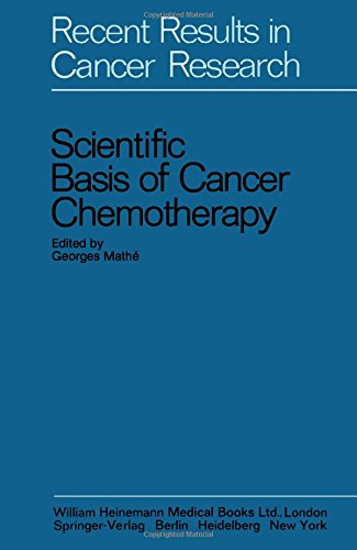 9780433203506: Scientific Basis of Cancer Chemotherapy (Recent results in cancer research)