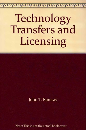 9780433396765: Technology Transfers and Licensing